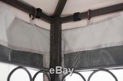 Jardin Extérieur 10'x12' Canopy Tente Gazebo Avec Patio Ombre Netting De Soirée De Mariage