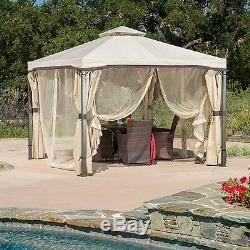 Jardin Gazebo 10 X 10 Cadre En Acier Patio Terrasse Jardin Privacy Screen Netting Shade