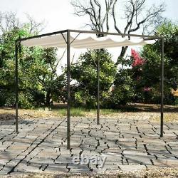 Jardin Gazebo Avec Toit Retractable Canopy Bbq Party Sunshade Toit Auvent Patio