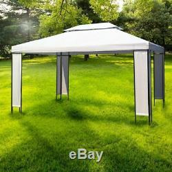 Jardin Gazebo Cadre En Acier Soft Top Pare-soleil Extérieur Party Canopy Chapiteau Tente