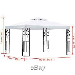 Jardin Gazebo Extérieur Auvent Auvent Camping Blanc 118.1x157.5 Floral Design Us