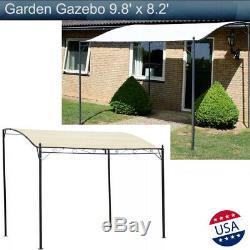 Jardin Gazebo Pare-soleil Canopy Cour Chapiteau De Soirée De Mariage Tente Extérieure 9.8'x8.2
