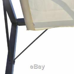 Montage Mural Ombrage Patio Rétractable Tente Pare-soleil Extérieur Auvent Gazebo