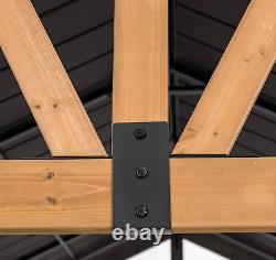 New Helena Collection10x12 Pi. Cedar Framed Gazebo Toit Rigide Bateau Libre