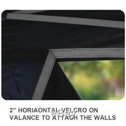 Noir Ez Pop Up 10x10 Commercial Ignifugation Canopy Tente Instantanée Avec Sac À Roulettes