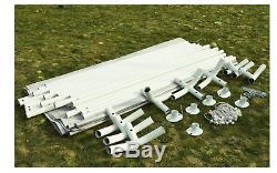 Nouveau Carport Blanc Cadre Portable Garage Abri De Voiture En Acier Extérieur Voiture Canopy Elle