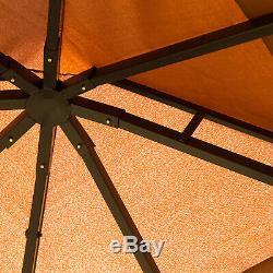 Ombre De Plate-forme Extérieure Canopy Avec La Structure En Plein Air Cadre & Design Stable, Brown