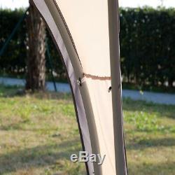 Outdoor Gazebo Heavy Duty Cadre En Acier Tente Bbq Beige Canopy Pergola Portable