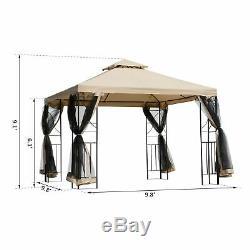 Outsunny 10'x10 Acier Tissu Canopy Pop Up Place Gazebo En Acier Tissu Extérieur