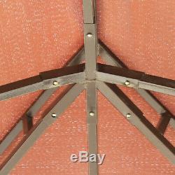 Outsunny 10'x13' Aluminium Gazebo Chapiteau Tente Auvent Pavillon Abri Parois