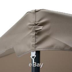 Outsunny 10x10 Acier Tissu Extérieur Gazebo Patio Pavillon Canopy Pop Up Tente