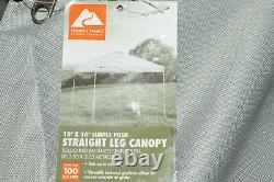 Ozark Trail 10' X 10' Simple Push Straight Leg Canopy (100 Pieds Carrés) -lecture Blanche