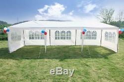 Parti Canopy 10'x30' Tente De Mariage Tente Cadre En Métal Extérieur Gazebo Avec 5 Côtés Nouveaux