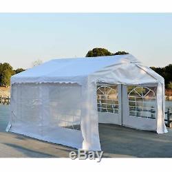 Party Cadre En Acier Tente De Stockage Extérieur Blanc De Jardin Voiture Couverture Souple Imperméable