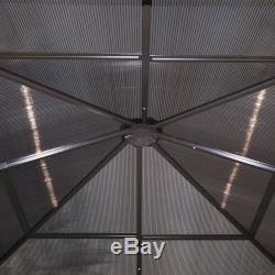 Party Canopy Patio Extérieur Gazebo 10'x10' Abri Hardtop Avec Filet Et Rideaux