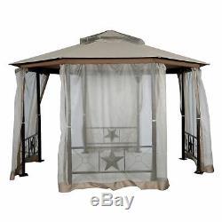 Patio Belvédère Belvédère Jardin Avec Moustiquaire En Métal 12 X 12 Pi Gazebo Tente