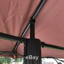 Patio Extérieur Cadre En Acier Grand Gazebo Ronde Canopy 11.5ft Cour Jardin Pare-soleil
