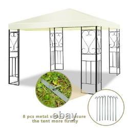 Patio Extérieur Gazebo Canopy Tent 10 X 10 Ft. Steel Frame Shelter Party Auvent