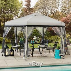 Patio Extérieur Jardin Gazebo Cadre En Acier De Mariage Canopy Tente Pavillon 11' X 11