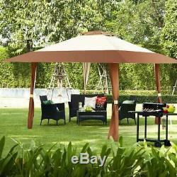 Patio Gazebo Auvent Tente 13x13 Extérieur Cour De Pique-nique Jardin Pare-soleil Abri Barbecue