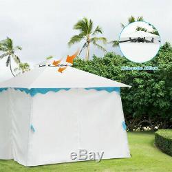 Patio Gazebo Auvent Tente Avec Des Parois Latérales 2 De Niveau 10' X 10' Instantané Abri Extérieur