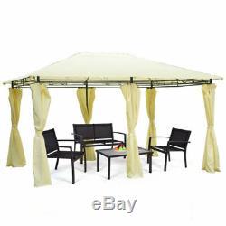 Patio Party Extérieur 13x10' Canopy Tente De Mariage Gazebo Fermeture À Glissière Murs-rideaux Latéraux