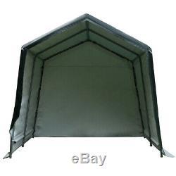 Patio Tente Auvent Abri De Stockage 10'x10' Abri Voiture Canopy Withremovable Porte