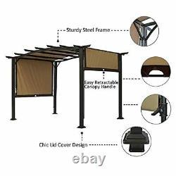 Pergola 12 X 9 Ft Patio Gazebo, Extérieur Patio Sunshelter Steel Frame Pergola