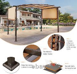 Pergola Canopy 11,8ft X 9,3ft Cadre En Métal Jardin Extérieur Deck Patio Gazebo Shade