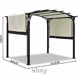 Pergola Gazebo Canopy Extérieur Patio Jardin En Acier Cadre Sun Shelter 10x8 Beige