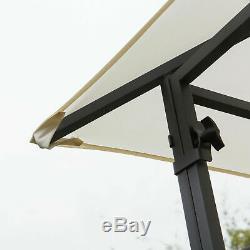 Pergola Grand Jardin Cadre En Acier Ombre Canopy Tente De Luxe Blanc Gazebo Mobilier