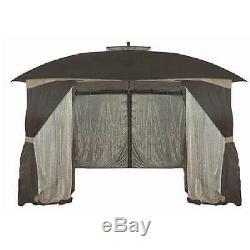 Piliers Extérieur Écran Tente Maison Gazebo Avec Patio Cour Netting Ombre 9'x10