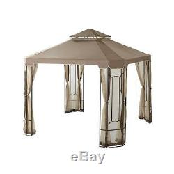 Place Extérieur Belvédère Avec Canopy Netting Cour Arrière 10 X 10 Jardin Patio De Mariage