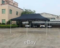 Pop Outdoor 10'x20' Jusqu'à Gazebo Canopy Pavillon Tente Abri Blanc Cadre Noir