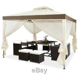 Pop-up 10'x 10' Canopy Gazebo Tente Abri Withmosquito Netting Patio Extérieur Nouveau