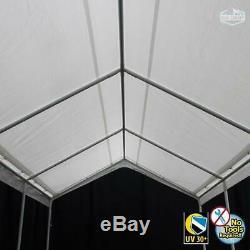 Roi Canopy Hercules Canopy Avec Couvercle Blanc Couverture 18' X 20