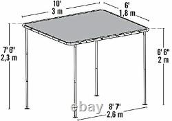 Shelterlogic 10' X 6' Solano Gazebo Canopy Charcoal Carbon Steel Frame Water