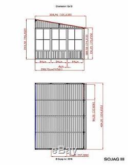 Sojag Charleston Aluminum Sunroom Kit Ajouter Une Pièce Solarium