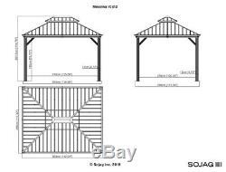 Sojag Messina Acier Galvanisé-toit Ouvrant Abri 10 X 12, Navires Nouvelles De L'usine