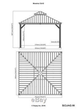 Sojag Messina Acier Galvanisé-toit Ouvrant Abri 12 X 12, Navires Nouvelles De L'usine