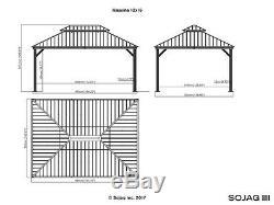 Sojag Messina Acier Galvanisé-toit Ouvrant Abri 12 X 16, Navires Nouvelles De L'usine
