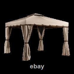 Sojag Roma Soft Top Gazebo, 10 Pi. X 10 Pi. Beige Avec Brown Garniture