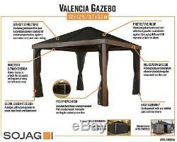 Sojag Valencia Gazebo Bois Fini 12 X 12 Pi