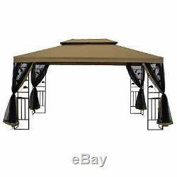 Suna Extérieur 10x13 Ft Extérieur Gazebo Cadre En Acier À Deux Niveaux Canopy Top