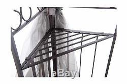 Sunjoy Gazebo 10 X 12 Netting Robuste En Acier Gris Noir Extérieur Jardin Ombre