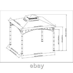 Sunjoy Gazebo Rosedale 11 Pi X 11 Pi 2-tier Bamboo Steel Frame