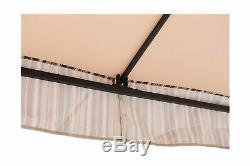 Sunjoy Lansing Soft Top Gazebo 10 X 10 Netting Cadre En Acier Extérieur L Gz747pst A