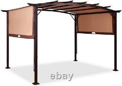 Tangkula 12' X 9' Pergola Gazebo Canopy Outdoor Patio Garden Steel Frame Sun
