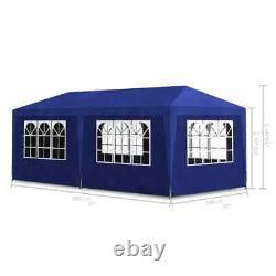 Tente 3x6 Avec 6 Murs Bleu Patio Jardin Gazebo Pavillon Marquee