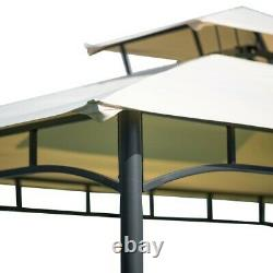 Tente Bbq Canopy Activités De Plein Air Grill Gazebo Avec Étagères Et Cadre Métallique